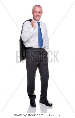 Mature Businessman Full Length Portrait