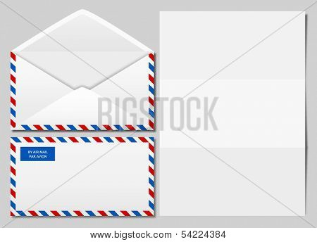vector image of an airmail envelope