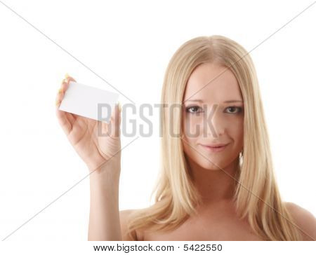 Girl With Businesscard