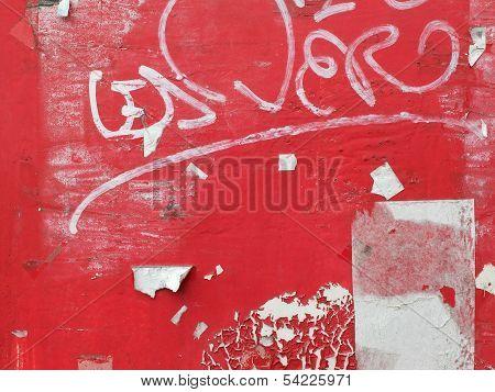 Red Grunge Sheet Metal