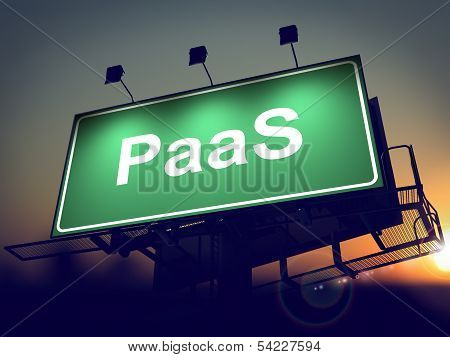 PAAS - Billboard on the Sunrise Background.