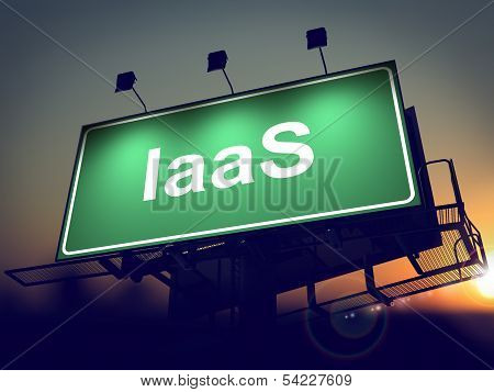 IAAS - Billboard on the Sunrise Background.