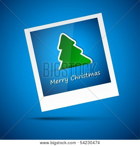 Blue picture of merry christmas