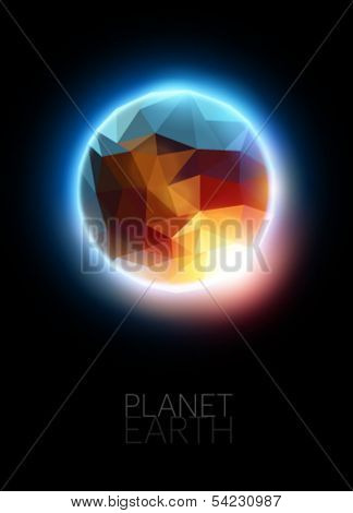 polygonal planet illustration