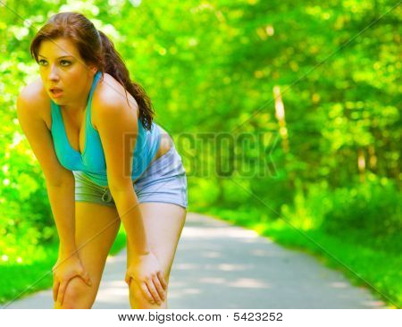 Young Woman Outdoor Workout