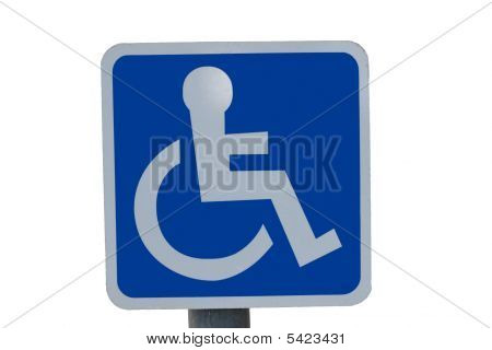 Blue Wheel Chair Sign