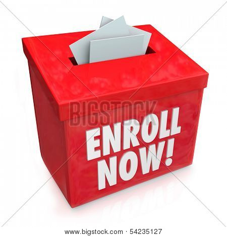 Enroll Now Enrollment Application Form Entry Box