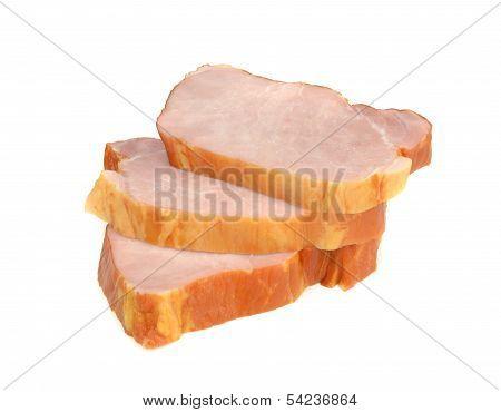 Sliced gammon steaks