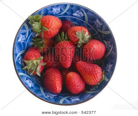 Strawberries In Asian Bowl