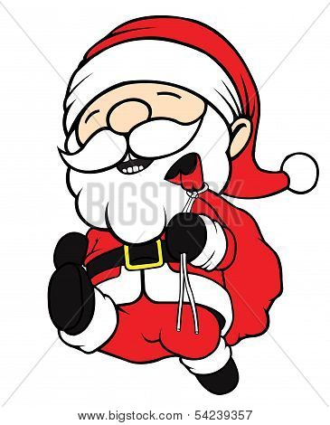 Santa Clause Running