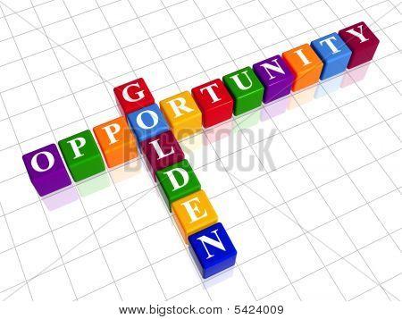 Golden Opportunity Like Color Crossword