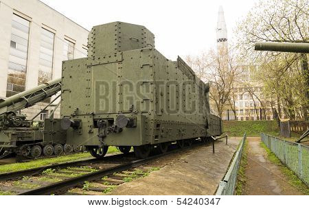 Armoured Russian locomotive class O Ov 5067 Back