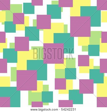 Seamless Pattern With Colorful Squares