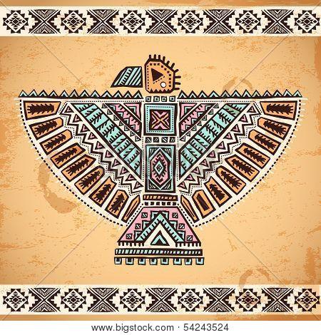 Tribal native American eagle symbols