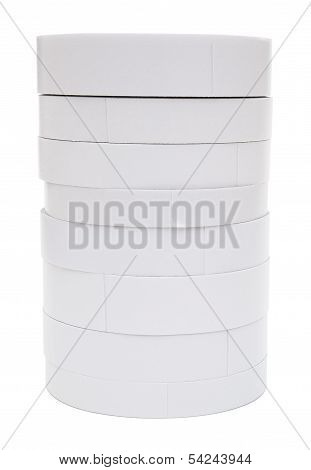 Double Side Adhesive Tapes Stack Up With Clipping Path