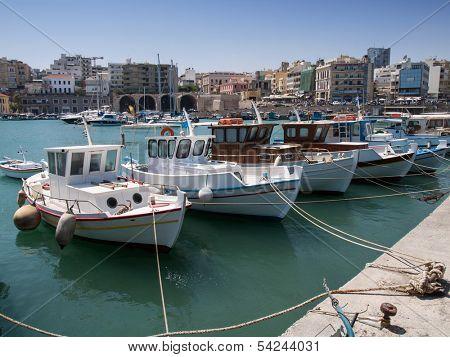 Heraklion -circa August 2013 - Harbor circa August 2013 in Heraklion, Greece