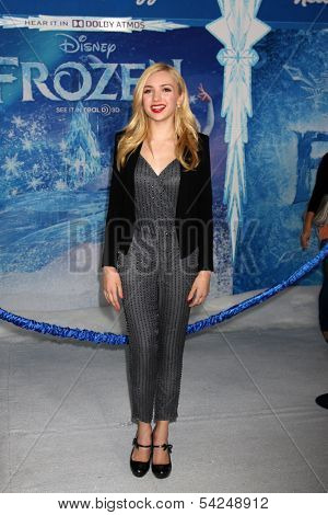 """LOS ANGELES - NOV 19:  Peyton List at the """"Frozen"""" World Premiere at El Capitan Theater on November 19, 2013 in Los Angeles, CA"""