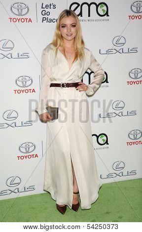 "LOS ANGELES - OCT 19:  Francesca Eastwood arrives to ""Environmental Media Awards 2013  on October 19, 2013 in Burbank, CA"