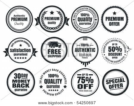 12 Vintage Ecommerce Badges