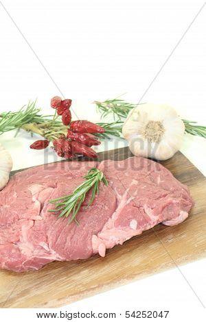 Ribeye Steak With Garlic, Chilli And Rosemary