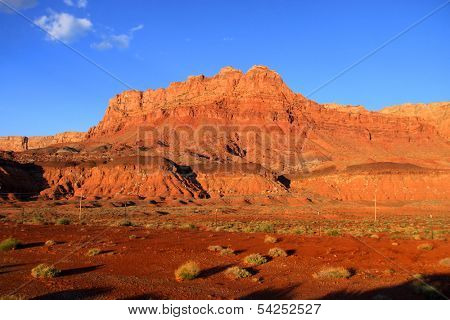 Scenic Vermilion cliffs national park area between Arizona and Utah