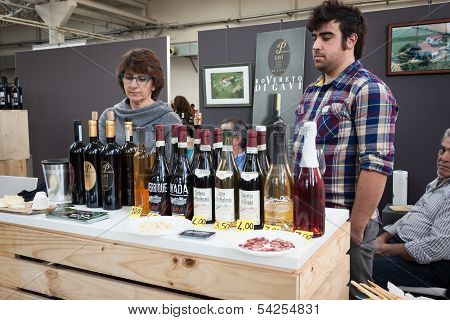 Italian Winemakers At Golosaria 2013 In Milan, Italy