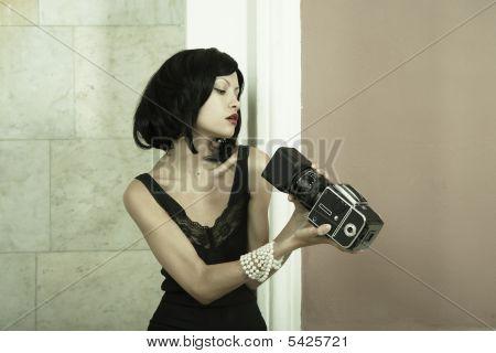 Young Photographing Lady