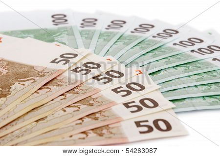Euro Currency On White Background