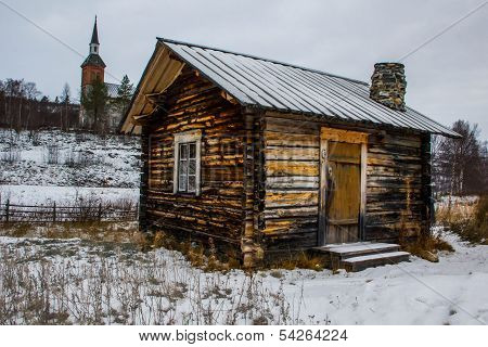 Traditional Sami hut, Finland