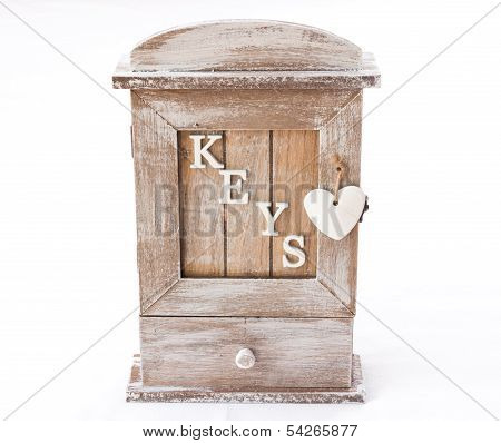 Wood Box For Keys