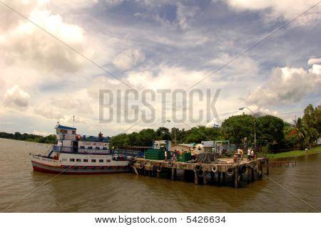 Ferry Pier In Nicaragua