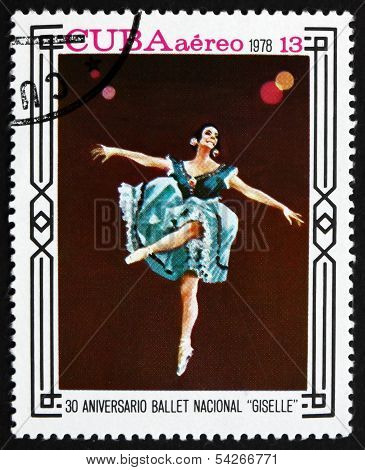 Postage Stamp Cuba 1978 Scene From Giselle, Ballet