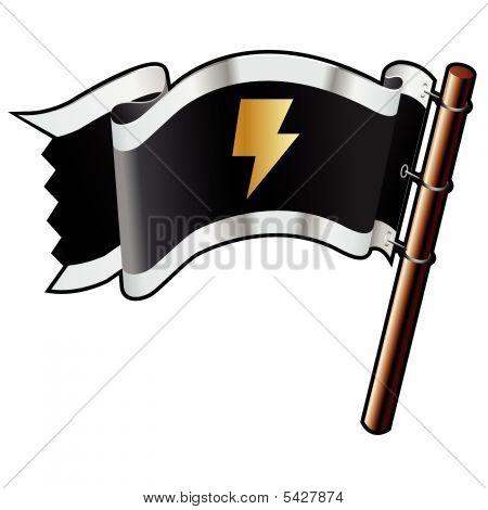 Lightning Bolt icono de bandera pirata