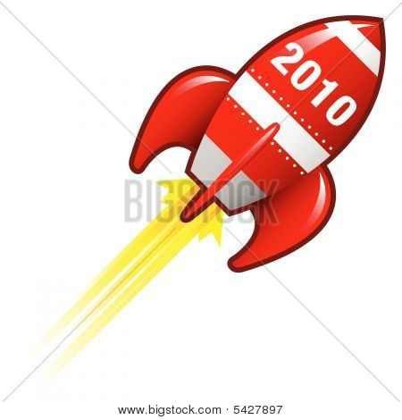 2010 Year Rocket Ship