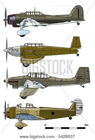 Bombardeiros de mergulho do vetor 1930-s