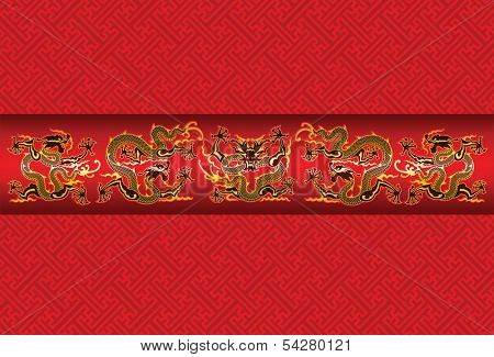 Illustration of mythological animal - a Chinese dragon