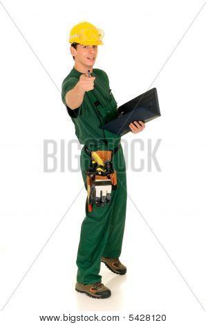Construction Worker, Green