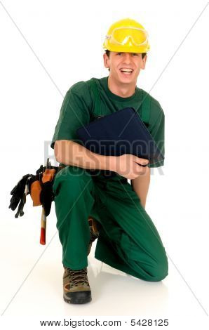Construction Worker, Green