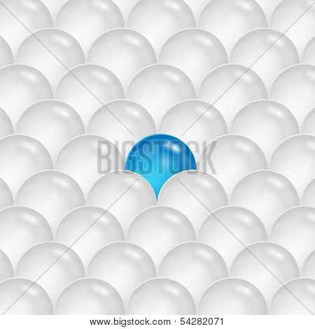 Abstract Background Of Gray And Blue Spheres.abstraction Of The Balls.vector
