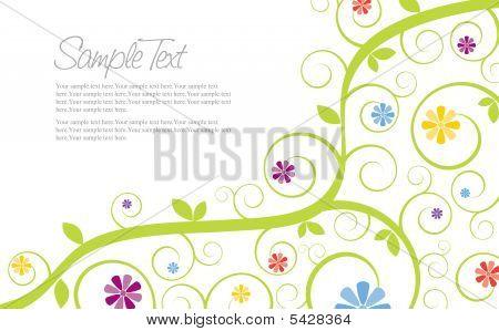 Swirly Flower Invitation Template