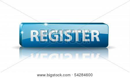 3D Blue Web Button Register