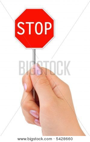 Sign Stop In Hand