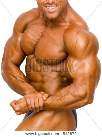 Bodybuilder isoliert