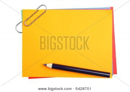 Blank Papers With Clip