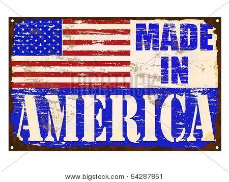 Made In America Enamel Sign