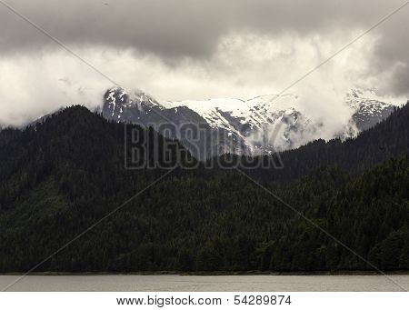 Snow Capped Mountain on Bay