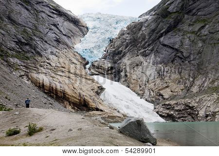 The Briksdal Glacier In Norway