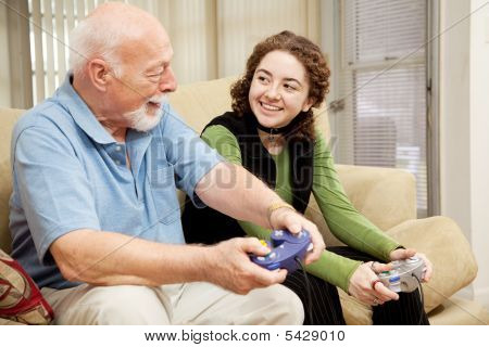 Grandfather Granddaughter Bonding