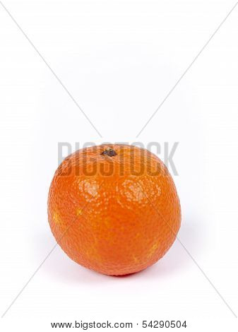 Small Manderin Isolated Over A White Background