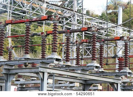 Electrical Insulators Of A  Electricity Power Station